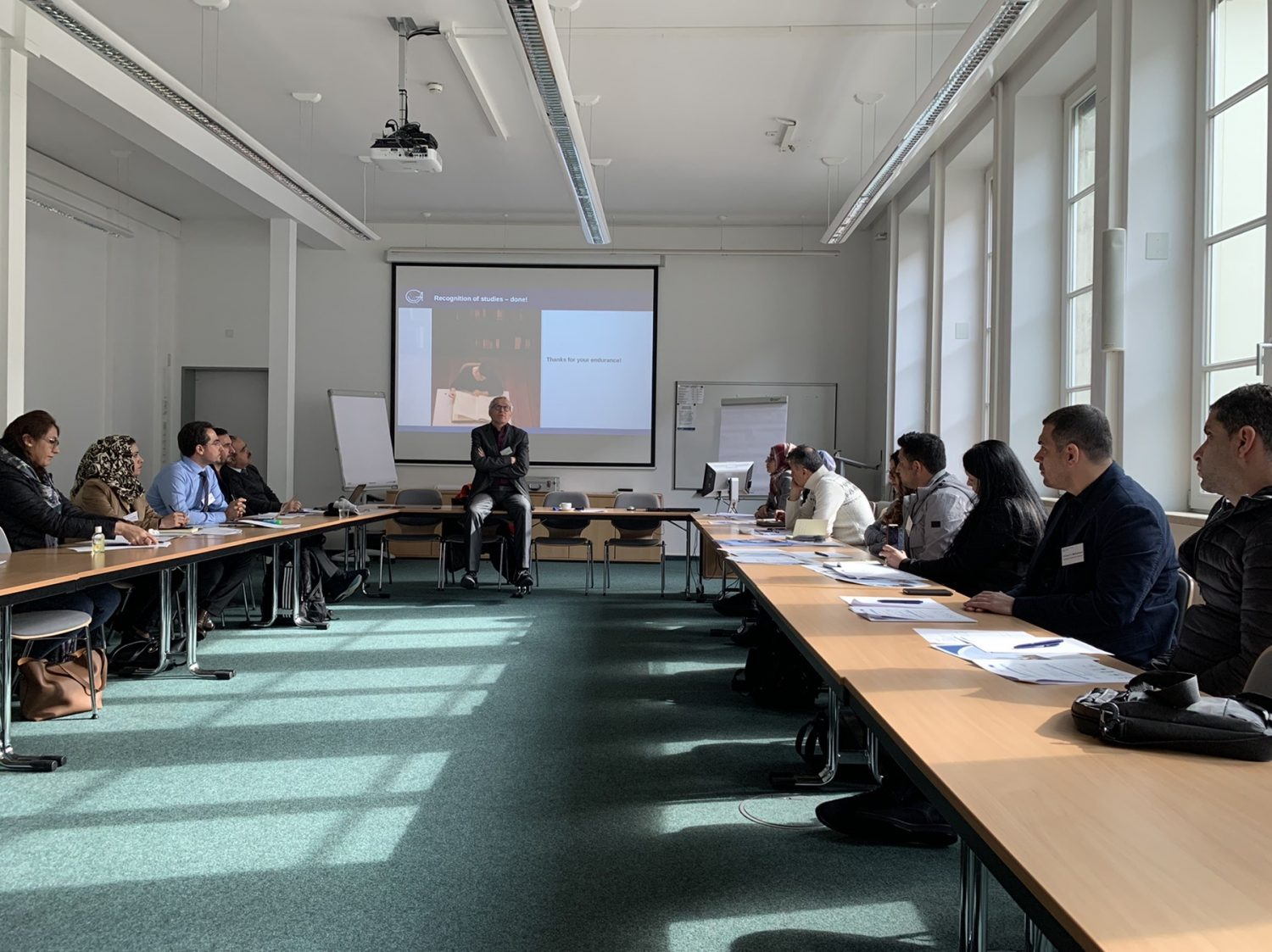 A Delegation of Erbil Polytechnic University participates in a training course at the International University of Göttingen in Germany