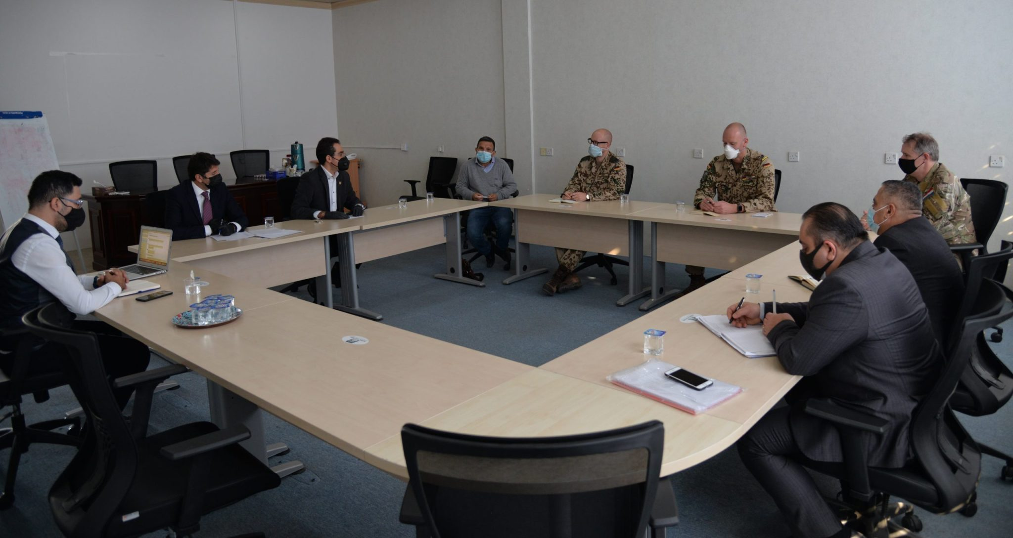 The Peshmerga Ministry and Coalition the Forces Delegation Visit the Erbil Polytechnic University