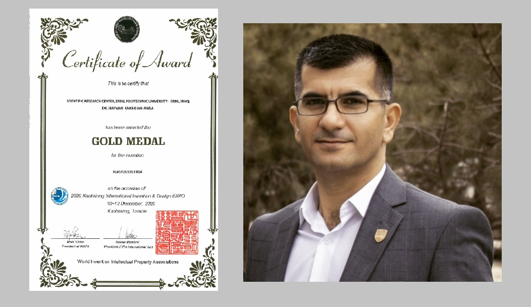 Academic staff of Erbil Polytechnic University Wins a Golden Medal In An International Conference For His Scientific Innovation