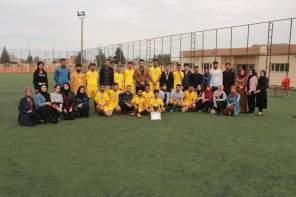 Erbil Polytechnic University fulfilled the Football League of Khabat Technical Institute Students