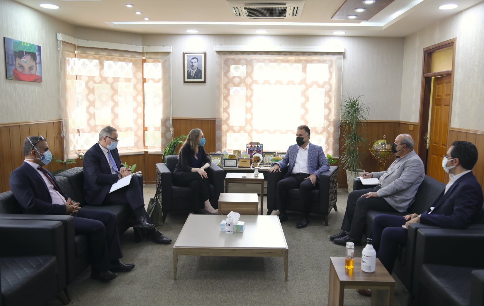 The Rector of The Erbil Polytechnic University Received A Delegation Of The U.S. Consulate General Erbil