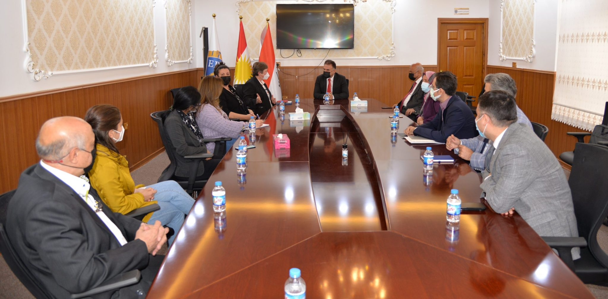 The Rector Of Erbil Polytechnic University Receives A Delegation Of The International Committee of the Red Cross