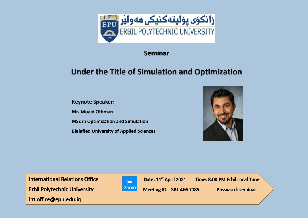 Erbil Polytechnic University Will Deliver An Online Seminar Specialized For Researchers And The Higher Education Students