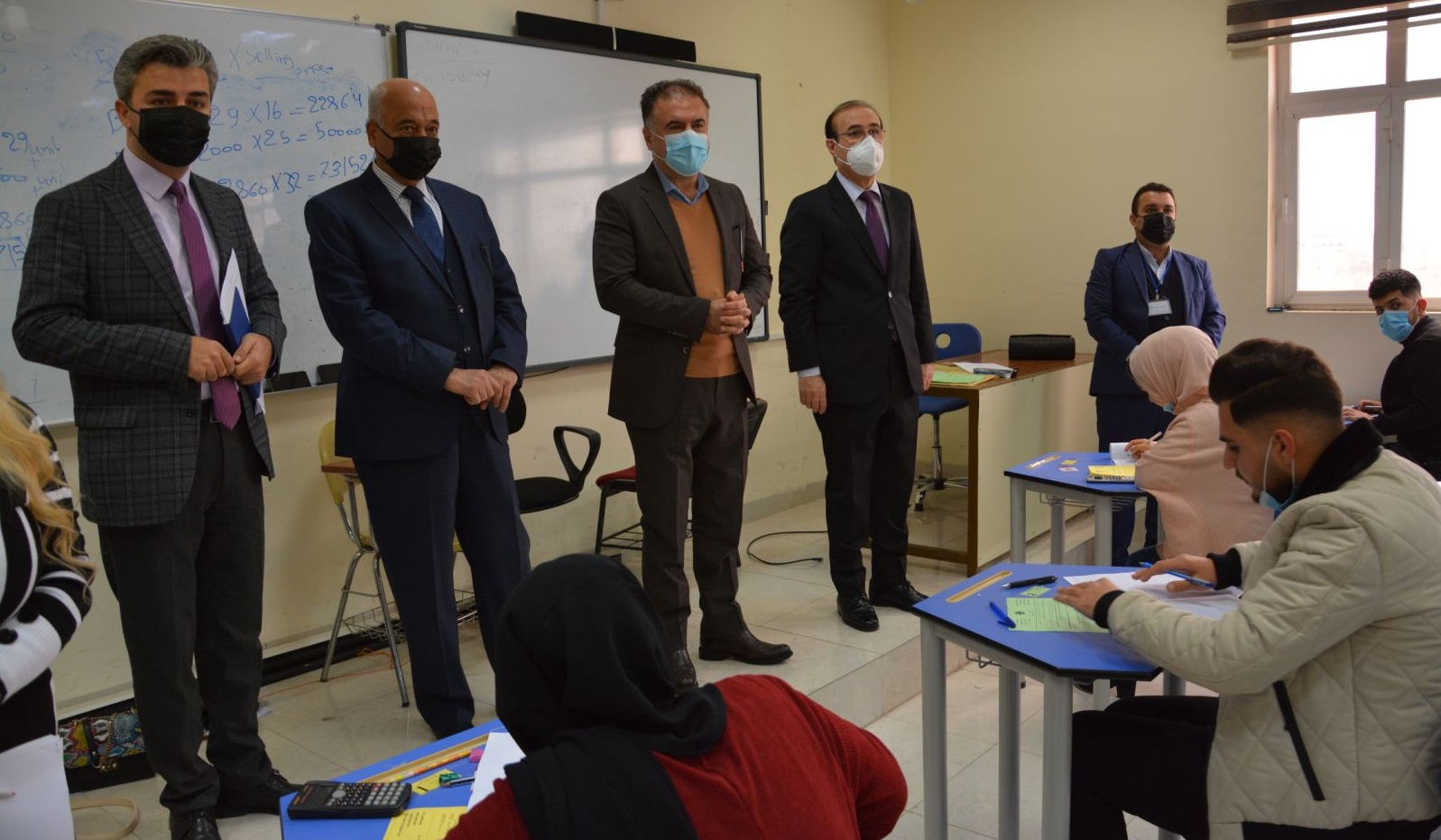 The Rector of the Erbil Polytechnic University Visits the Exam Halls of the Erbil Administration Technical College