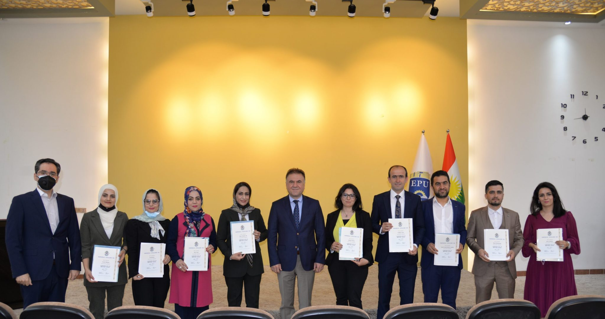 The Rector Of The EPU Offered Eleven English Lecturers The Certificate Of Participation In The TESOL Training Course