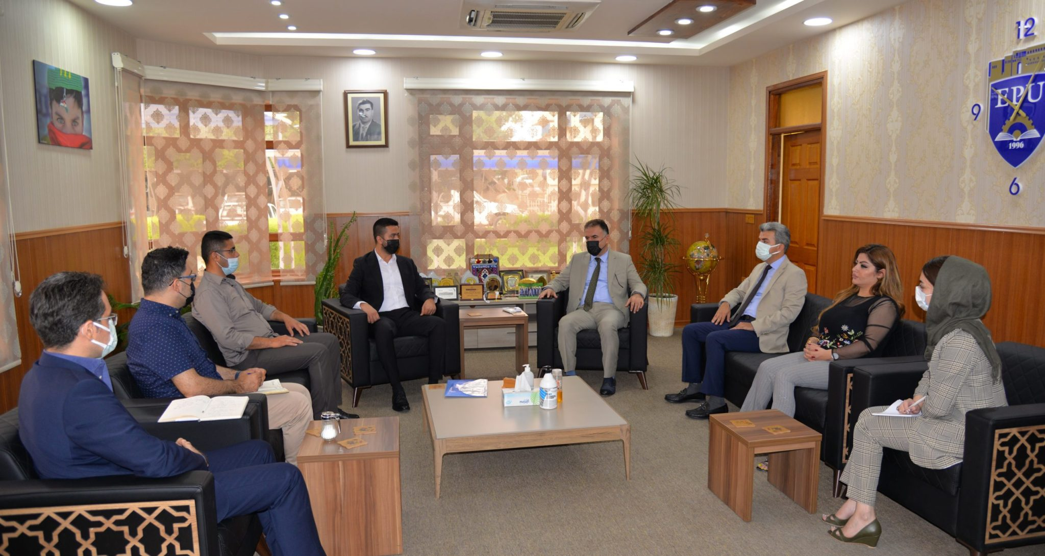 The Rector of the Erbil Polytechnic University Received the British Council Delegation
