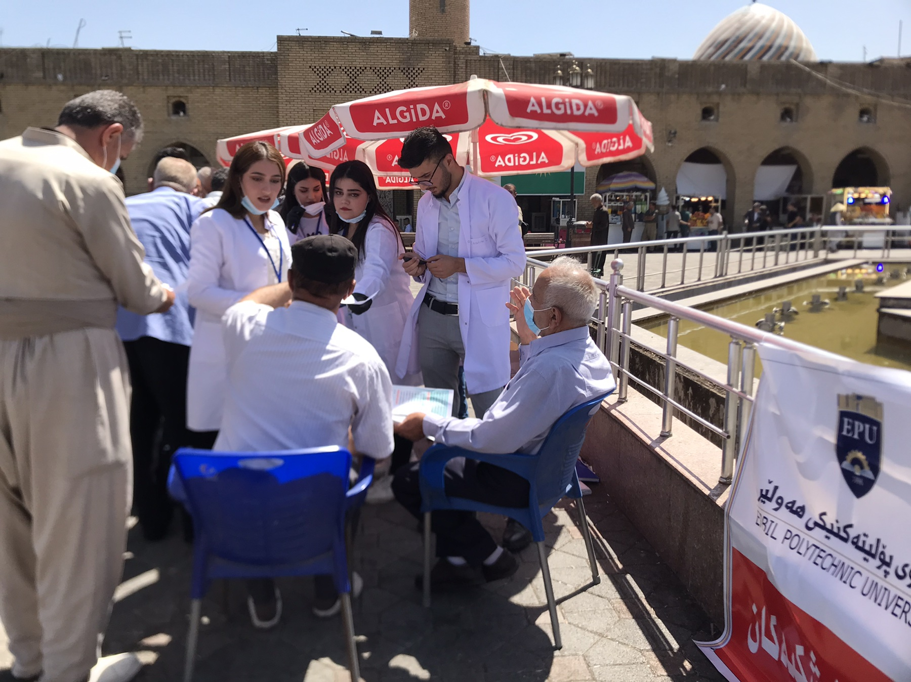 The Medical Departments of the Erbil Polytechnic University Do Blood Tests For the People in the Erbil City Center