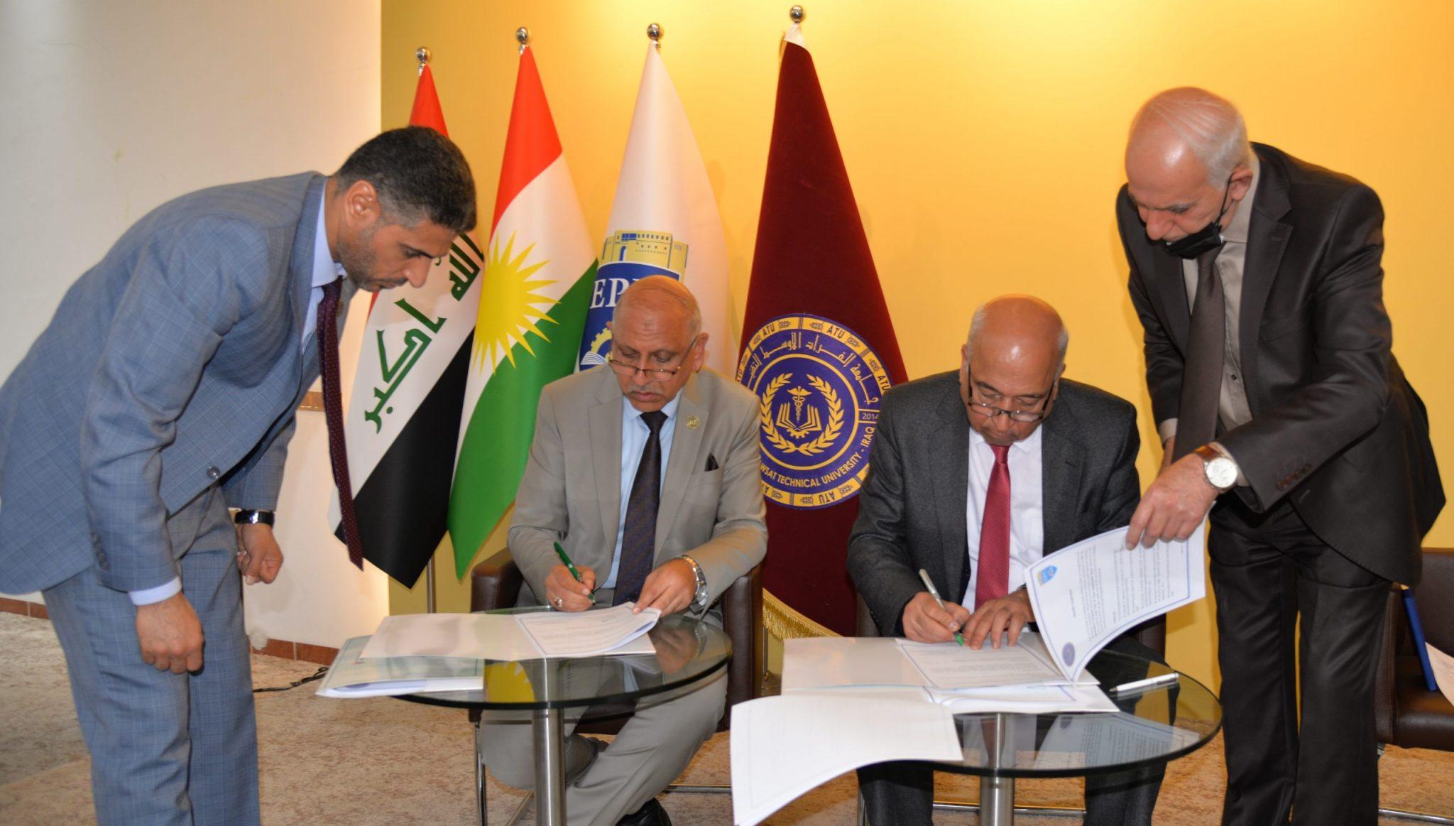 Erbil Polytechnic University and Al-furat- al-awsat Technical University have signed a Memorandum of Understanding