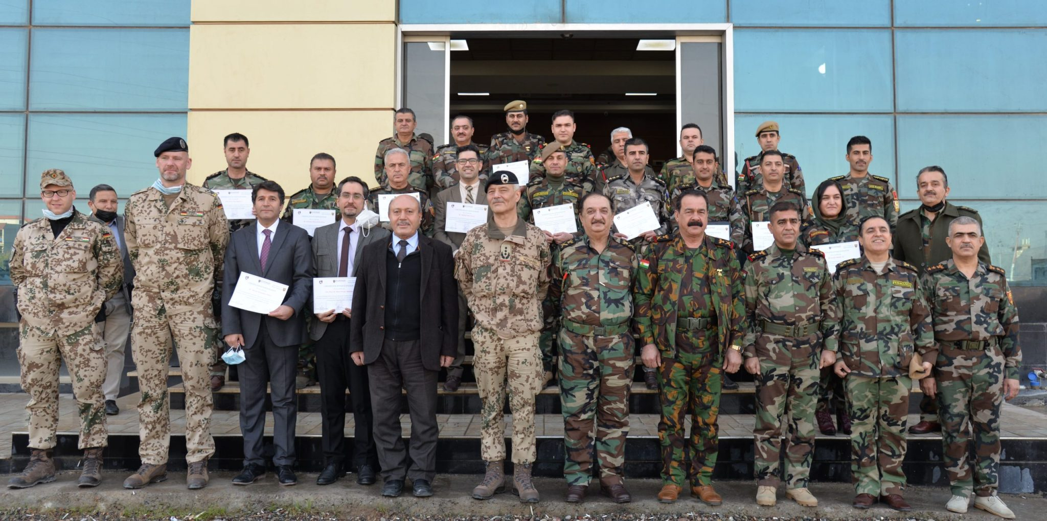 Erbil Polytechnic University fulfills The Project Management Course for The Peshmerga Ministry Officers