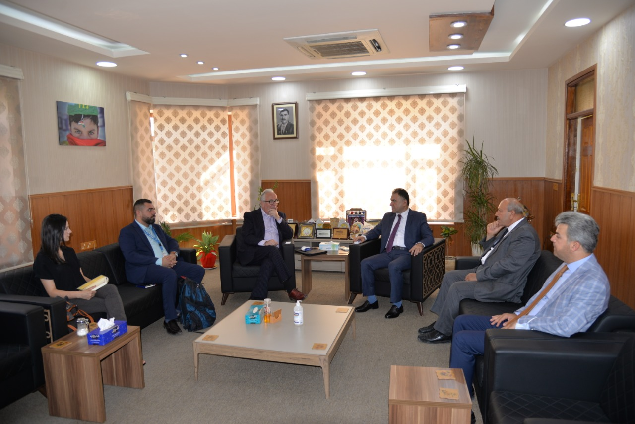 The Rector Of The Erbil Polytechnic University Receives The UNESCO Delegation
