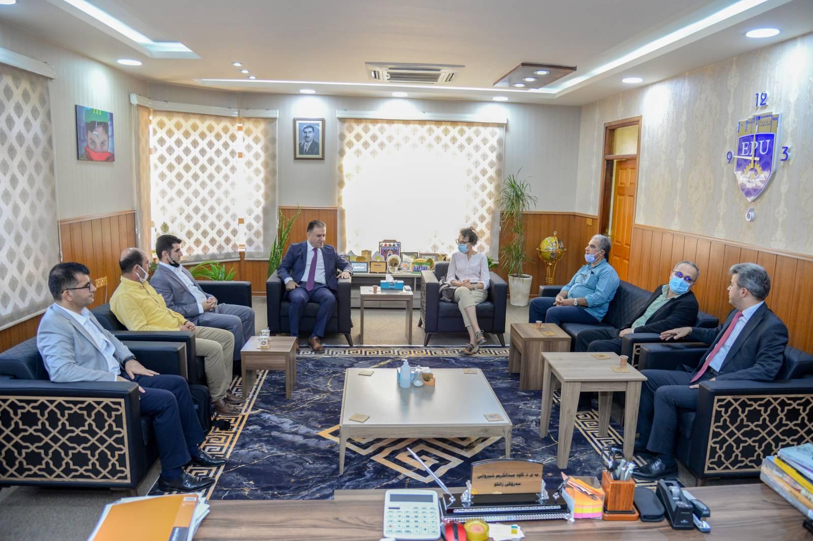 The Rector of the Erbil Polytechnic University Received An Italian Organization