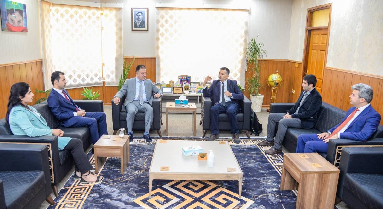 Erbil Polytechnic University Rector receives Bologna Process System Evaluators