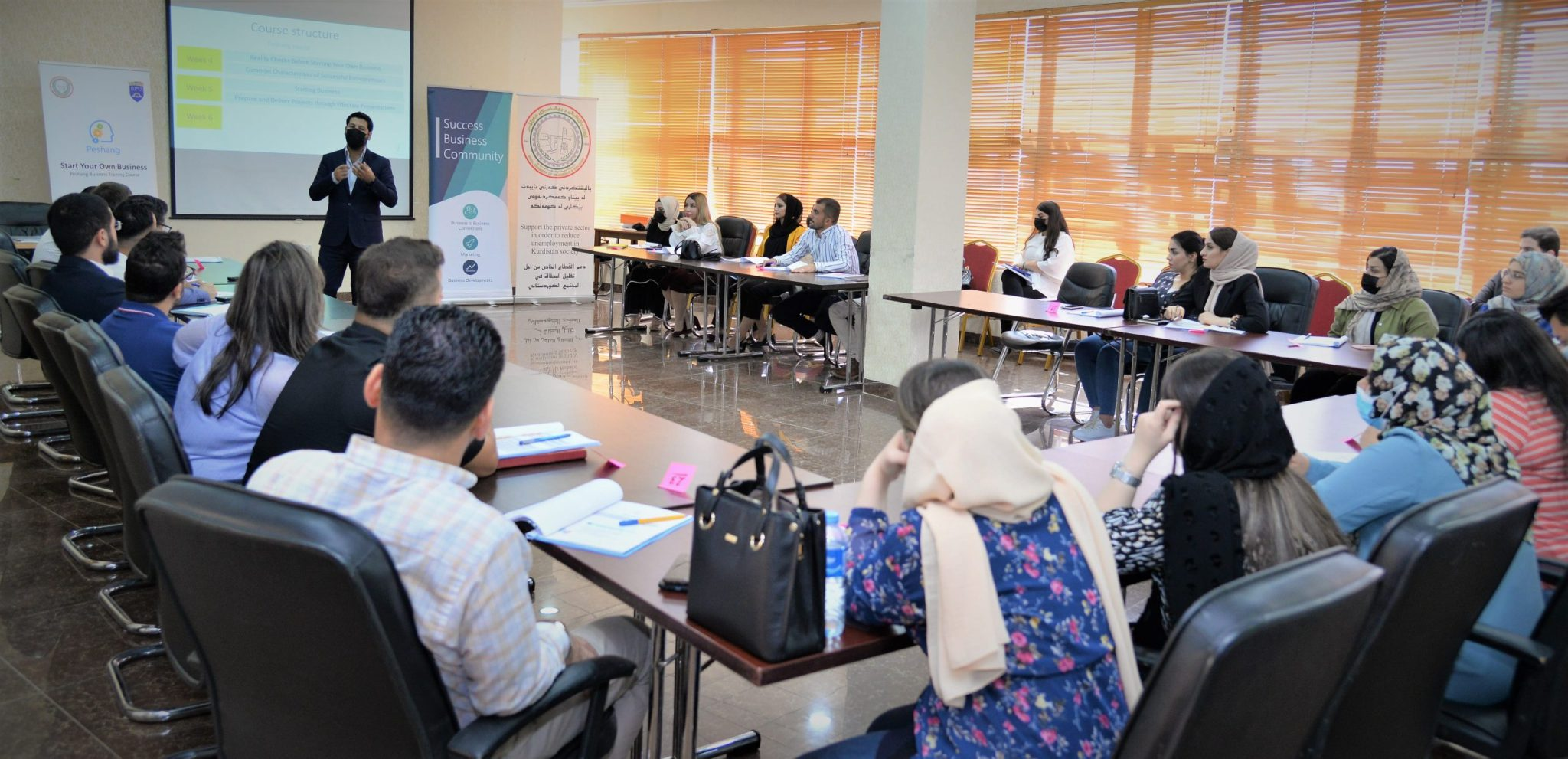 Erbil Polytechnic University and Erbil Chamber of Commerce And Industry Opened Labor Training Course For A Number of Alumni